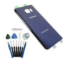 Battery Glass Cover Rear Back Door For Samsung Galaxy Note 5 N920 Blue +12Tools