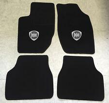 Autoteppich Fußmatten für Lancia Thema schwarz silber Logo 1984'-1994' 4tlg Neu