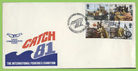 G.B. 1981 Fishing set on Official Catch 81' First Day Cover, Falmouth, Cornwall