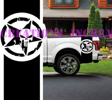 Punisher Toyota Bed Stripes Truck Decals Stickers Set of 2 Racing Decals Any Car