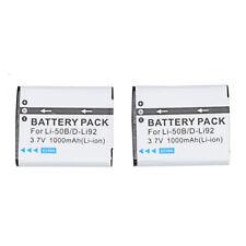 2x Battery Pack for PENTAX D Li92 X70 Megazoom D L192
