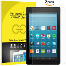 """Screen Protector Tempered Glass for Amazon Kindle Fire HD 8"""" 7th 8th 2017 2018"""