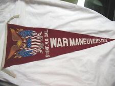 L@K! Original Pre Wwi War Maneuvers 1912 5th Infantry Regt. Cal Ng Pennant Rare