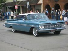 Old Photo.  Aqua/White 1959 Chevrolet Impala Sports Coupe automobile