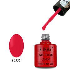 80552 Bluesky Soak Off UV LED Gel Nail Polish Candy Red Stallion