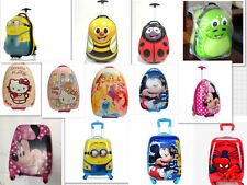 Children Kids Holiday Travel Hard Shell Suitcase Luggage Trolley Bags next day