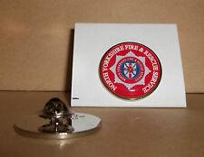 NORTH Yorkshire FIRE e Rescue Service bavero pin badge