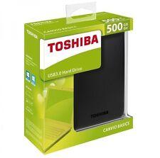 "HARD DISK ESTERNO AUTOALIMENTATO 500 GB 2,5"" TOSHIBA USB 3.0 CANVIO BASICS STORE"