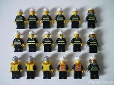 LEGO CITY / X 18 Minifigures Pompiers - Fireman