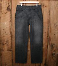 POLO RALPH LAUREN Classic Five Pocket Charcoal 100% Cotton Denim Jeans Sz 36x32
