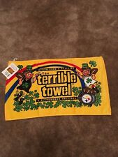 Pittsburgh Steelers Terrible Towel Leprechaun St Patricks Day Rare NWT