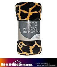 Odyssey Single Giraffe Faux Fur Mink Soft Lounge Sofa Throw Rug Blanket 127x152