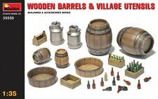 Wooden Barrels & Village Utensils (WWII Military Diorama) 1/35 MiniArt 35550