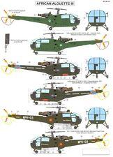 Berna Decals 1/48 AEROSPATIALE ALOUETTE III HELICOPTER IN AFRICAN SERVICE