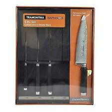 Tramontina Damascus 5 Piece Cutlery Knife Set with In-drawer Block