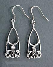Celtic Scottish Thistle Stainless Steel Earrings