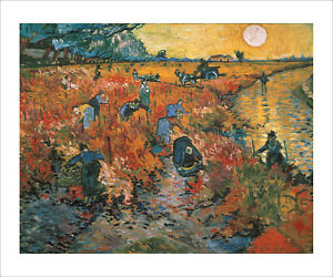 Van Gogh - The Red Vineyard fine art giclee print poster wall art various sizes