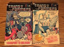 Vintage Big Box Transformers VHS 1984 Lot Volume 7 & 8 Fire Mountain Oblivion