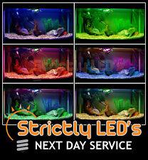 Nastri di alluminio a LED cambia colore acquario acquario luci resistente all' acqua 50 cm