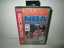 Tecmo Super NBA Basketball (Sega Genesis, 1993) Game & Case--Tested--NTSC-US-CA