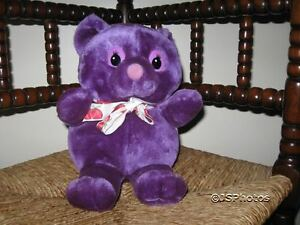 Woodland Bear Company UK Purple Stuffed Plush Bear