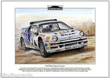 Ford Rs200 (Grupo B) 1984-86 - Clásico Rally A4 Lámina Artística - STIG