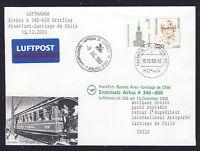 17936) LH A340 FF Frankfurt - Chile 15.12.2003 Brief