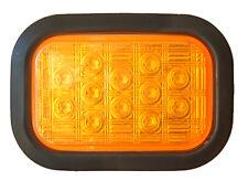 6 x LED Amber Rectangle Rubber grommet Indicator 12/24V ADR APPROVED