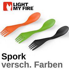 light my fire Spork - Wunschfarbe - Göffel Gabel Messer Löffel - Geschenk NEU