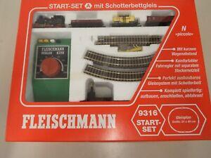 Fleischmann Piccolo Startset 9316 Starterset Modellbahn Spur N C578