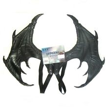 "Black Dragon Wings Devil Bat Molded Cosplay Adult Costume Accessory 24"" x 17"""