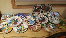 DISNEY CHRISTMAS YEARS PLATE SET 1989- 2004! RARE SET HARD TO FIND 15 PLATES!