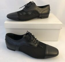 NIB $525 Emporio Armani Leather Women's Black Summer Flats 7 US X3C117