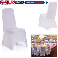 White Plain Chair Covers Spandex Stretch Wedding Ceremonies Dining Party 150pcs