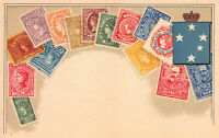 Victoria, Stamps on Early Postcard, Unused, Published by Ottmar Zieher