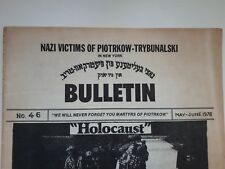 Jewish Judaica/Old Bulletin Nazi Victims of Piotrkow in New York/Holocaust/ 1978
