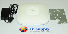 Cisco AIR-AP1142N-A-K9 W/L Access Point w/Mounting Blank & PowerSupply 6MthWty