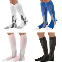 Qu_ AU_ BG_ Men Women Cool Breathable Running Sports Leg Support Compression Soc