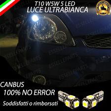 COPPIA LUCI POSIZIONE 5 LED PER FORD FIESTA V 5 T10 W5W CANBUS 100% NO ERRORE