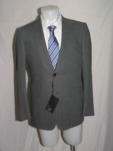 Dunhill Belgravia Fit Light Charcoal Gray Gabardine Two Button Blazer 40R NWT
