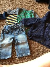 Boys Gap Lot 0-3 Jeans And Striped Tops 3-6 Jacket