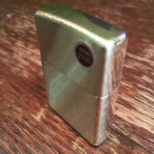Genuine Zippo 204B brushed brass windproof Lighter CASE ONLY No Insert/Box