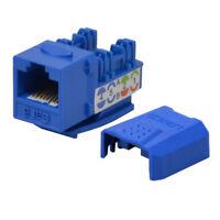 25 pack lot Keystone Jack Cat6 Blue Network Ethernet 110 Punchdown 8P8C
