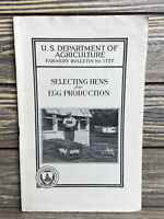 Vintage Farmers Bulletin US Dept of Agriculture No 1727 Selecting Hens 1934