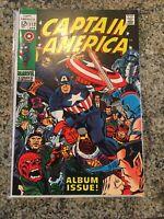 Captain America #112 Marvel Comics Kirby Lee 1969 Origin Retold Album Issue
