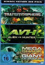 SCIENCE FICTION BOX DVD (3 FILME) TRANSMORPHERS, ALIEN VS. HUNTER, MEGA SHARK