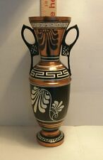 VINTAGE HANDPAINTED COPPER? EGYPTIAN VASE BEAUTIFUL COLORFUL  PATTERN