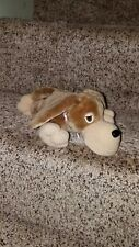 """Playskool Lil Pooches FLOPPY Brown Puppy Dog Plush 9"""" Clip Mouth 1991 Vintage"""
