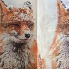 paper napkins decoupage x 2 christmas fox  21cm