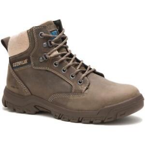 CAT Caterpillar P91008 Women's Tess Steel Toe Dark Grey Leather Work Boots Shoes